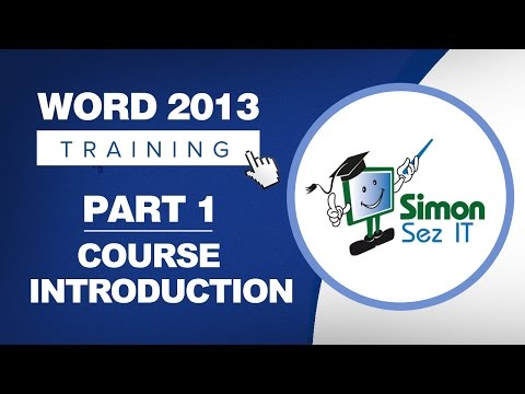 Word 2013 for Beginners Part 1: An Introduction to Using Word 2013 ...