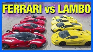 Forza Horizon 4 Online : FERRARI vs LAMBORGHINI!!