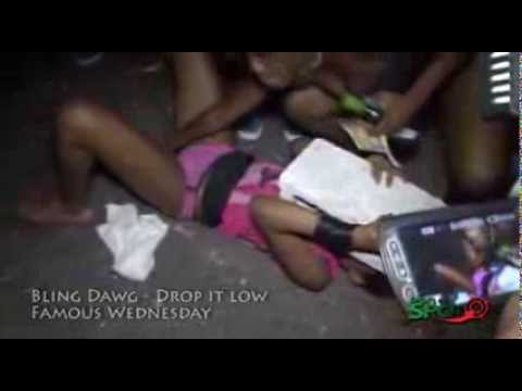 Bling Dawg - Drop it Low (Famous Wednesday) Girls dance half naked