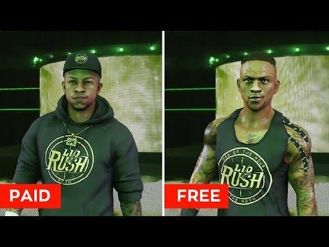 WWE 2K19: Free DLC Alternates! (DLC vs CC Comparison)