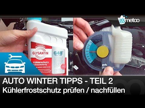 Auto Winter Tipps 2 Frostschutz Kühlflüssigkeit messen prüfen - Kühlflüssigkeit prüfen und auffüllen