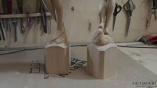 Видео - Мебельная резная ножка l-Sofia-C