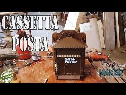 🔴 FAI DA TE - Ecco la Cassetta della Posta in ferro con supporto in legno,