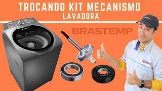 Trocando kit mecanismo lavadora Brastemp