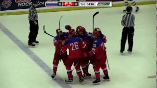 Denisenko, Romanov dominate in World Junior A opener -- 12/10/17