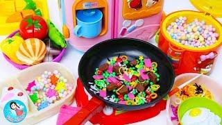 ละครสั้น คุณแม่ทำข้าวกล่องให้เด็กๆ ของเล่นเครื่องครัว รีวิวของเล่นผักผลไม้หั่นได้ ของเล่นทำอาหาร