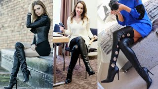 Long Thigh High Boots Designs Of Latex&leather/latex&leather Thigh High Boots Outfits
