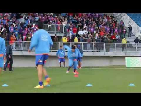 """Banda Azulgrana - Previa Deportes Puerto Montt v/s Deportes Iberia 2014"" Barra: Banda Azulgrana • Club: Deportes Iberia"