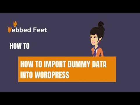 How to Import Dummy Data into WordPress