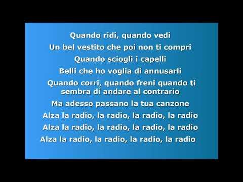 Nek - Alza la radio - Testo