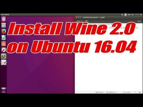 Install Wine 2 0 on Ubuntu 16 04 - смотреть онлайн на Hah Life