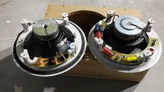 ShortReview Test  Vergleich Deckenlautsprecher Amazon Basics 20cm vs. Magnat Interior IC-82