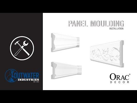 Orac Decor | High Density Flexible Polyurethane Panel Moulding | Primed White | 36in Sample Piece