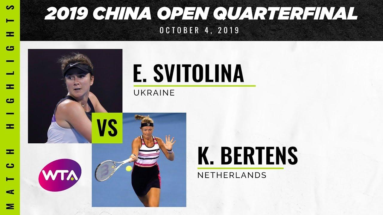 Обзор матча Элина Свитолина - Кики Бертенс в Пекине (ВИДЕО)