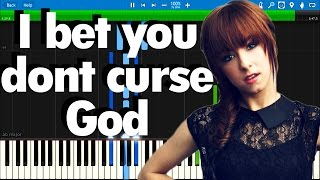 Christina Grimmie - I bet you dont curse God | Synthesia piano tutorial