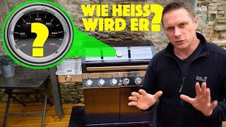 Rösle Videro G6-S Vario+ Maximale Grill - Temperatur und Einbrennen des neuen Gasgrills - deutsch