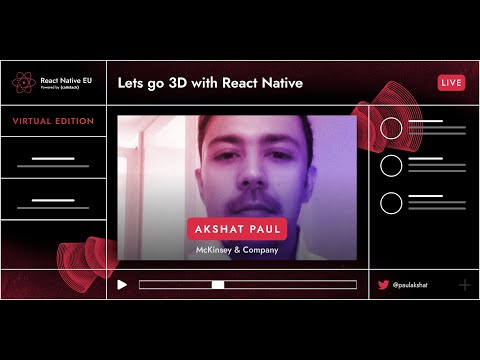 Image thumbnail for talk Lets Go 3D With React Native