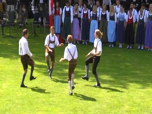 Austrian traditional folk dance: Haidauer & Osterwitzer Schuhplattler