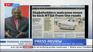 Kenyans celebrate Uhuru's orders to have NTSA out of the roads