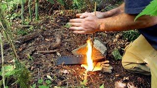 World's Easiest Hand Drill: Gunpowder Friction Fire