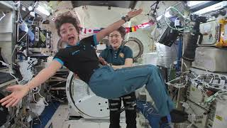 Christina Koch and Jessica Meir in-flight interviews from ISS by NASA