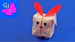 Оригами Кролик из бумаги