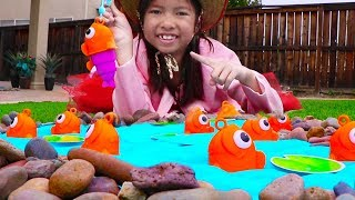 Pretend Play Fishing & Camping Toys with Wendy! Family Fun Activities