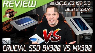 DIE BESTE GAMER-SSD ? Crucial BX300 VS Crucial MX300 - SATA6GB-SSDS im Review/Test | DasMonty