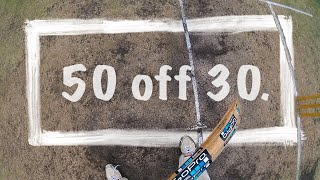 Pov GoPro Batting in a match- 50 off 30 Rocks...Half trackers    ||P'sCTV19||