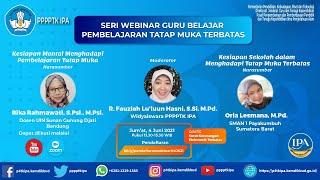 Seri Webinar Guru Belajar, Pembelajaran Tatap Muka Terbatas #SahabatSainsIndonesia, Kementerian Pendidikan, Kebudayaan, Riset, dan Teknologi (Kemendikbudristek) menggelar seri webinar untuk guru dan tenaga kependidikan guna mempersiapkan pelaksanaan pembelajaran tatap muka (PTM) terbatas. PPPPTK IPA sebagai UPT Kemendikbudristek turut berpartisipasi dengan menyelenggarakan Seri Webinar Guru Belajar. Salam IPA, Integritas, Peduli, Amanah. #p4tkipa #IntegritasPeduliAmanah #PembelajaranTatapMukaTerbatas #SeriWebinarGuruBelajar.