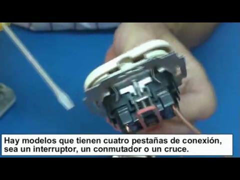 Mecanismos eléctricos de una vivienda, interruptor, conmutador y enchufe. Cómo conectar los cables