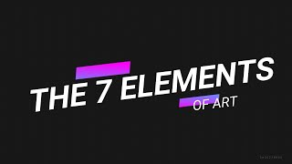 The 7 Elements Of Art By Artist Lillian Gray