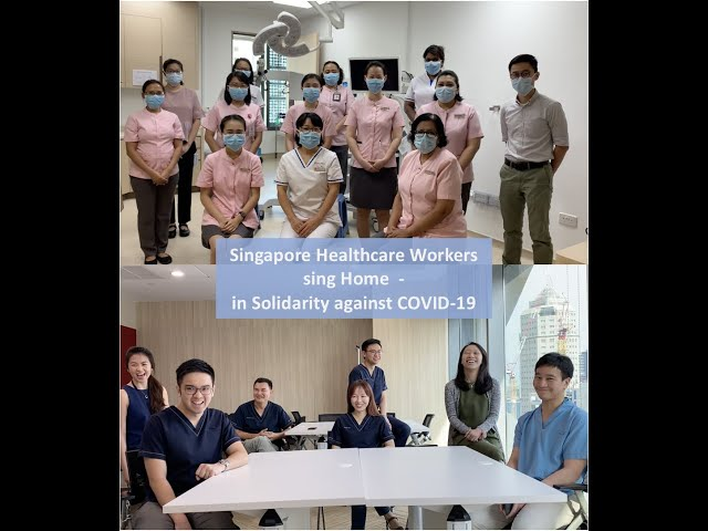 Healthcare workers sing Kit Chan's Home with a message for the public