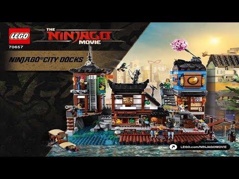 Lego Instructions The Lego Ninjago Movie 70657 Ninjago City Docks