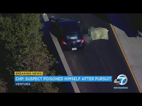 Ventura chase suspect dies after apparent poisoning, California Highway Patrol says | ABC7