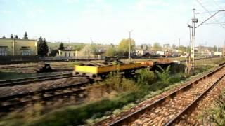 preview picture of video 'Baza LHS i wjazd do stacji Sędziszów 2012-05-01'