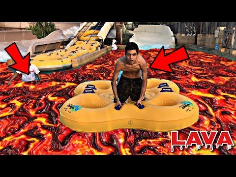 DO NOT PLAY THE FLOOR IS LAVA CHALLENGE AT WATER PARK!! *WARNING*