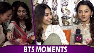 Vidhi Pandya  Surprise Visit To Helly Shah | Sufiyana Pyaar Mera | Telly Reporter