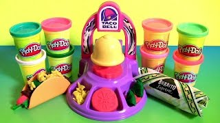 Play Doh Taco Bell Playset DIY Waffle Tacos Burritos Nachos Play Dough Food Meal Clay Toys