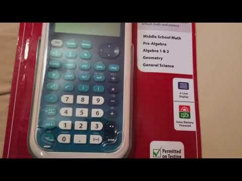 TI 34 Scientific Multiview calculator review