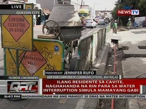 [GMA]  QRT: Panayam kay Jennifer Rufo, AVP for Corporate Communications, Maynilad
