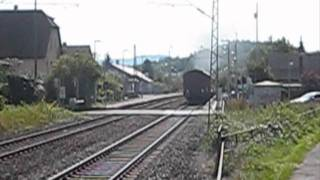 preview picture of video 'Dampflok 52 7596 der EFZ am 11.09.2011 in Wannweil'