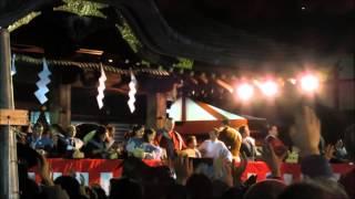 稀勢の里、豆まき@大國魂神社節分祭2015
