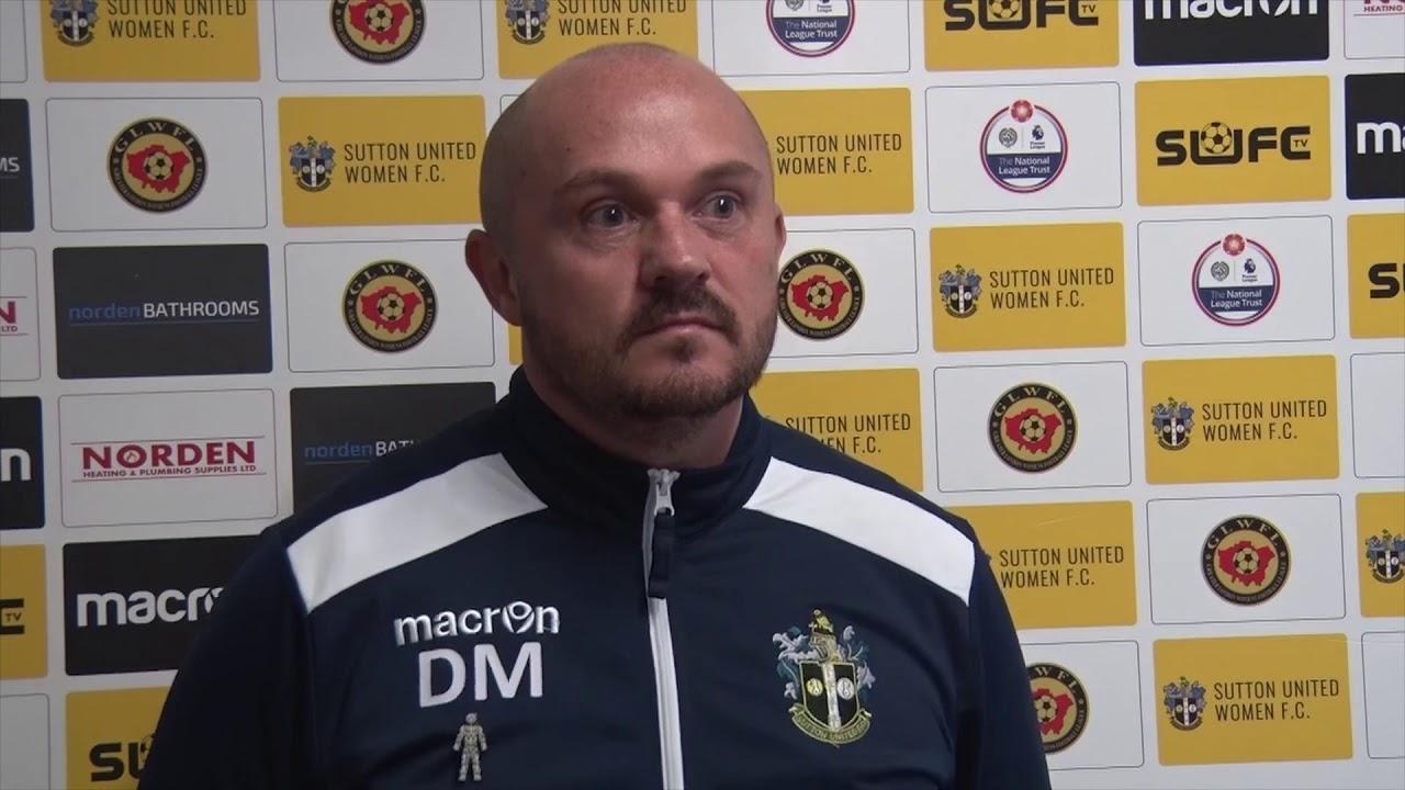 Duncan Muller Post match v Clapham United WFC