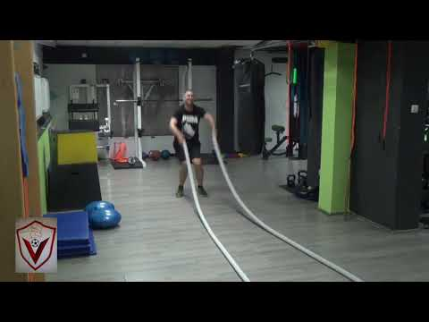 BATTLE ROPES JUMPS WITH SLAMS - HQ Conditioning Drill!