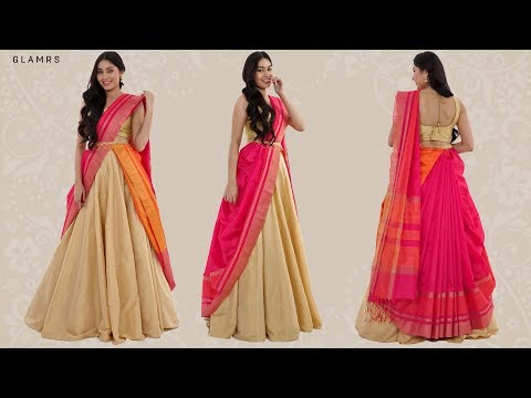 How To Drape Your Saree With A Lehenga | Silk Saree Hack! Mp3