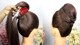 very easy hairstyle with using clutcher || easy Hairstyles For Party || clutcher hairstyle
