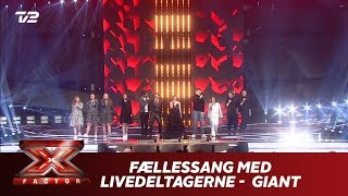 Fællessang Med Livedeltagerne 'Giant' - Calvin Harris, Rag'n'Bone Man (Live)   X Factor 2019   TV 2