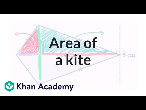 Area of kites (video) | Area and perimeter | Khan Academy