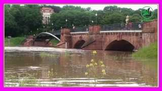 preview picture of video 'Hochwasser wieder in Grimma'